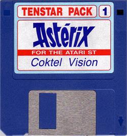 Artwork on the Disc for Asterix: Operation Getafix on the Atari ST.