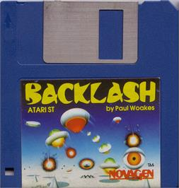 Artwork on the Disc for Backlash on the Atari ST.