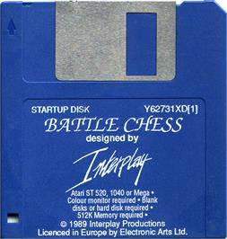 Artwork on the Disc for Battle Chess on the Atari ST.