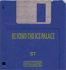 Artwork on the Disc for Beyond the Ice Palace on the Atari ST.