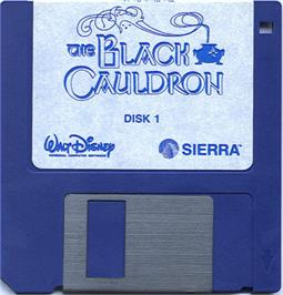 Artwork on the Disc for Black Cauldron on the Atari ST.