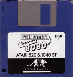 Artwork on the Disc for BoBo on the Atari ST.