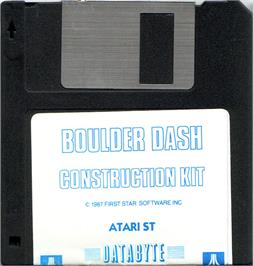 Artwork on the Disc for Boulder Dash Construction Kit on the Atari ST.