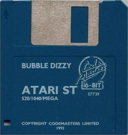 Artwork on the Disc for Bubble Dizzy on the Atari ST.