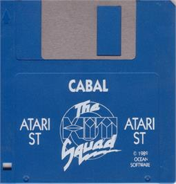 Artwork on the Disc for Cabal on the Atari ST.