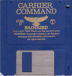 Artwork on the Disc for Carrier Command on the Atari ST.