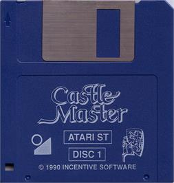 Artwork on the Disc for Castle Master on the Atari ST.