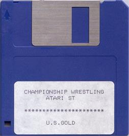 Artwork on the Disc for Championship Wrestling on the Atari ST.