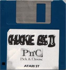 Artwork on the Disc for Chuckie Egg 2 on the Atari ST.