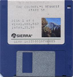 Artwork on the Disc for Colonel's Bequest on the Atari ST.