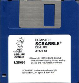 Artwork on the Disc for Computer Scrabble Deluxe on the Atari ST.
