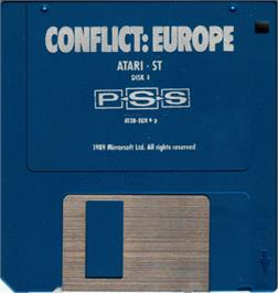 Artwork on the Disc for Conflict: Europe on the Atari ST.