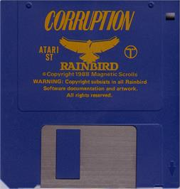 Artwork on the Disc for Corruption on the Atari ST.