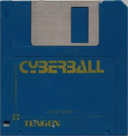 Artwork on the Disc for Cyberball on the Atari ST.