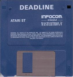 Artwork on the Disc for Deadline on the Atari ST.