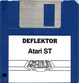 Artwork on the Disc for Deflektor on the Atari ST.
