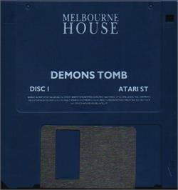 Artwork on the Disc for Demon's Tomb: The Awakening on the Atari ST.