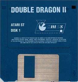 Artwork on the Disc for Double Dragon II - The Revenge on the Atari ST.
