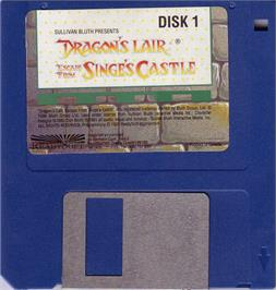 Artwork on the Disc for Dragon's Lair 2: Escape from Singe's Castle on the Atari ST.