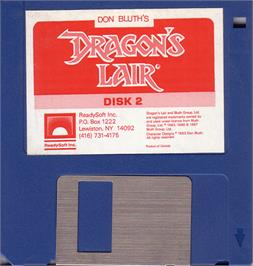 Artwork on the Disc for Dragon's Lair 2 on the Atari ST.