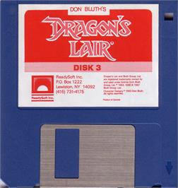 Artwork on the Disc for Dragon's Lair 3: The Curse of Mordread on the Atari ST.