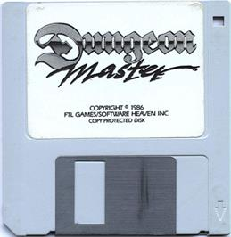 Artwork on the Disc for Dungeon Master on the Atari ST.