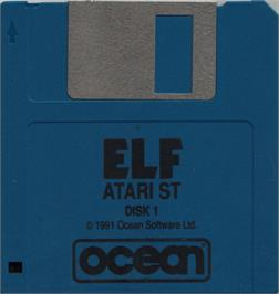 Artwork on the Disc for Elf on the Atari ST.