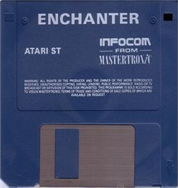 Artwork on the Disc for Enchanter on the Atari ST.