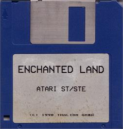 Artwork on the Disc for Enchanter Trilogy on the Atari ST.