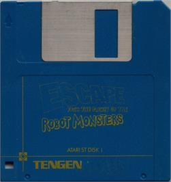 Artwork on the Disc for Escape from the Planet of the Robot Monsters on the Atari ST.