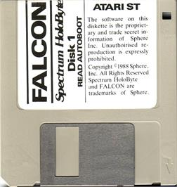 Artwork on the Disc for Falcon on the Atari ST.