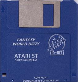 Artwork on the Disc for Fantasy World Dizzy on the Atari ST.