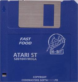 Artwork on the Disc for Fast Food on the Atari ST.