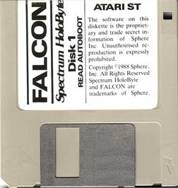 Artwork on the Disc for Fusion on the Atari ST.
