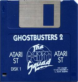 Artwork on the Disc for Ghostbusters 2 on the Atari ST.