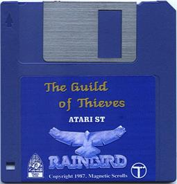 Artwork on the Disc for Guild of Thieves on the Atari ST.