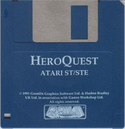 Artwork on the Disc for Hero Quest on the Atari ST.