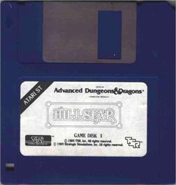 Artwork on the Disc for Hillsfar on the Atari ST.