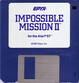 Artwork on the Disc for Impossible Mission 2 on the Atari ST.