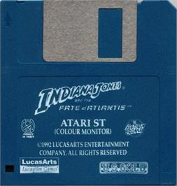 Artwork on the Disc for Indiana Jones and the Temple of Doom on the Atari ST.