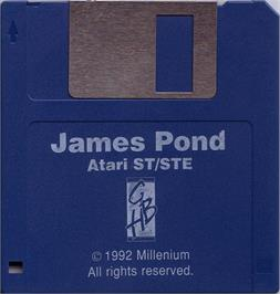 Artwork on the Disc for James Pond on the Atari ST.
