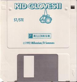 Artwork on the Disc for Kid Gloves II: The Journey Back on the Atari ST.