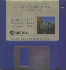 Artwork on the Disc for King's Quest II: Romancing the Throne on the Atari ST.
