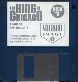 Artwork on the Disc for King of Chicago on the Atari ST.