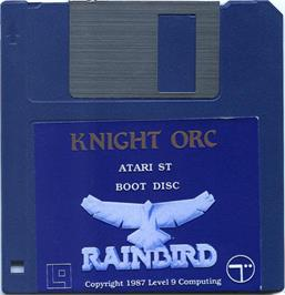 Artwork on the Disc for Knight Orc on the Atari ST.