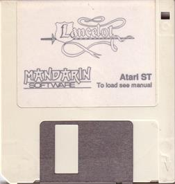 Artwork on the Disc for Lancelot on the Atari ST.