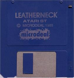 Artwork on the Disc for Leather Neck on the Atari ST.