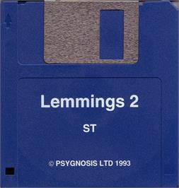 Artwork on the Disc for Lemmings 2: The Tribes on the Atari ST.