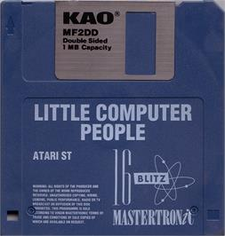 Artwork on the Disc for Little Computer People on the Atari ST.