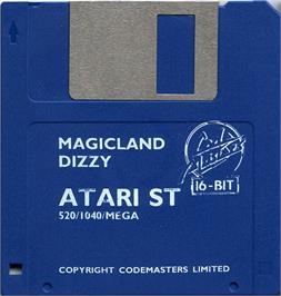Artwork on the Disc for Magicland Dizzy on the Atari ST.